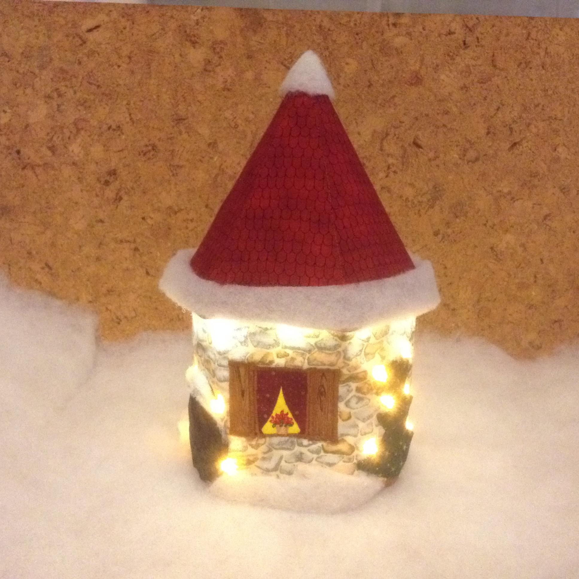 Zwischen dem geschmückten Weihnachtsbaum und dem ebenso verschönerten Busch blüht ein Weihnachtsstern im Fenster.