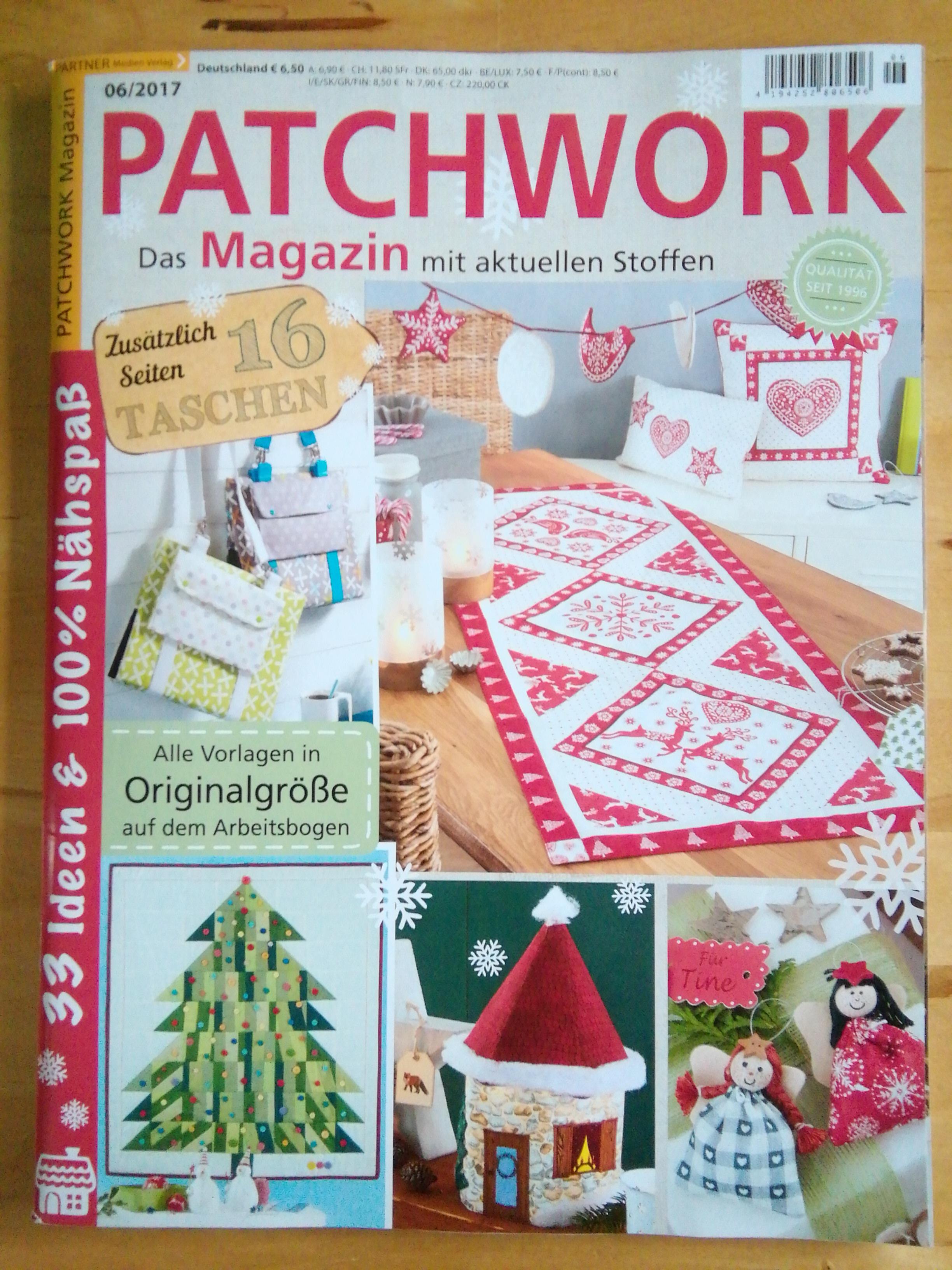 Im Patchwork Magazin 06/2017  findet sich die Anleitungzum Wichtellichterheim.
